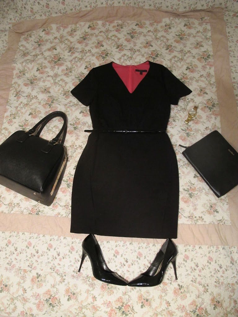 Black dress house of fraser - Team With A Jacket Or Mac And Black Court Shoes Add A Structured Bag A Man S Gold Watch And A Chic Ipad Cover And You Re Good To Go
